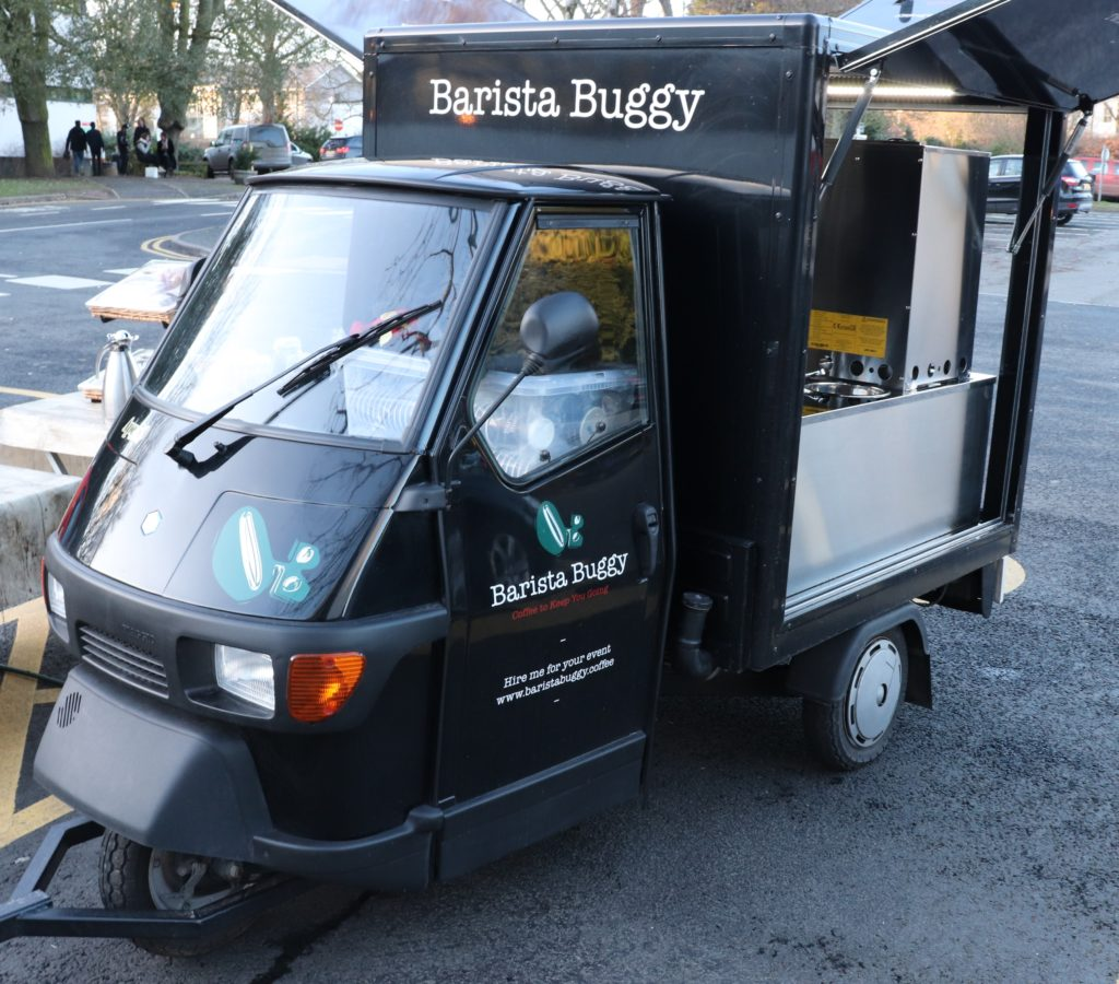 Italian Espresso in a new Ape 50 Piaggo food truck - what's not to love?