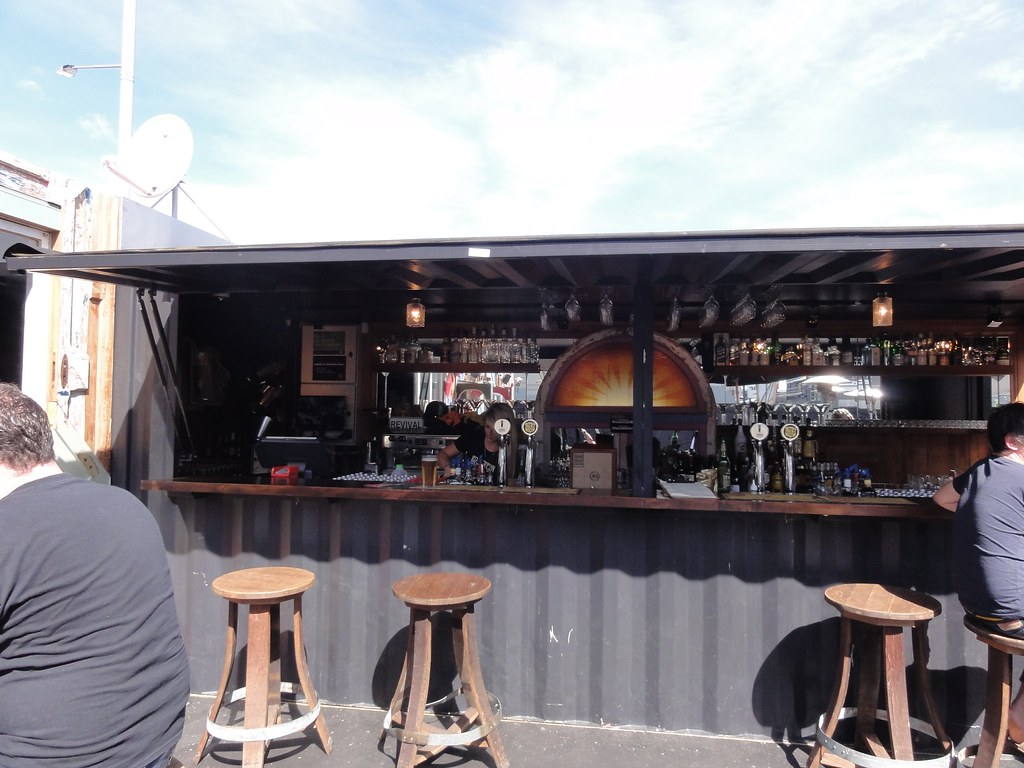 Shipping Container Bar Karpatia Trucks