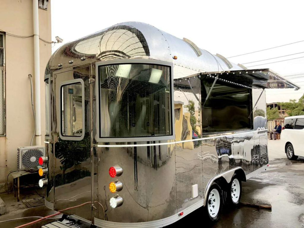 New Airstream Trailer food truck replica Eric Chan