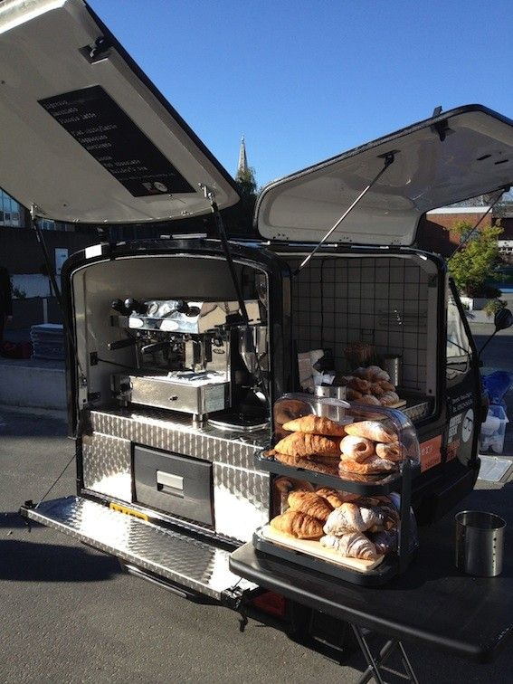 Piaggio Superstructure for Coffee and Pastry truck - small mobile bakery