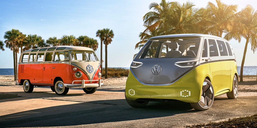 new electric vw bus food truck