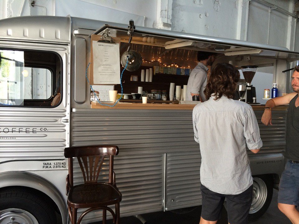 vintage coffee truck - citroen hy food truck