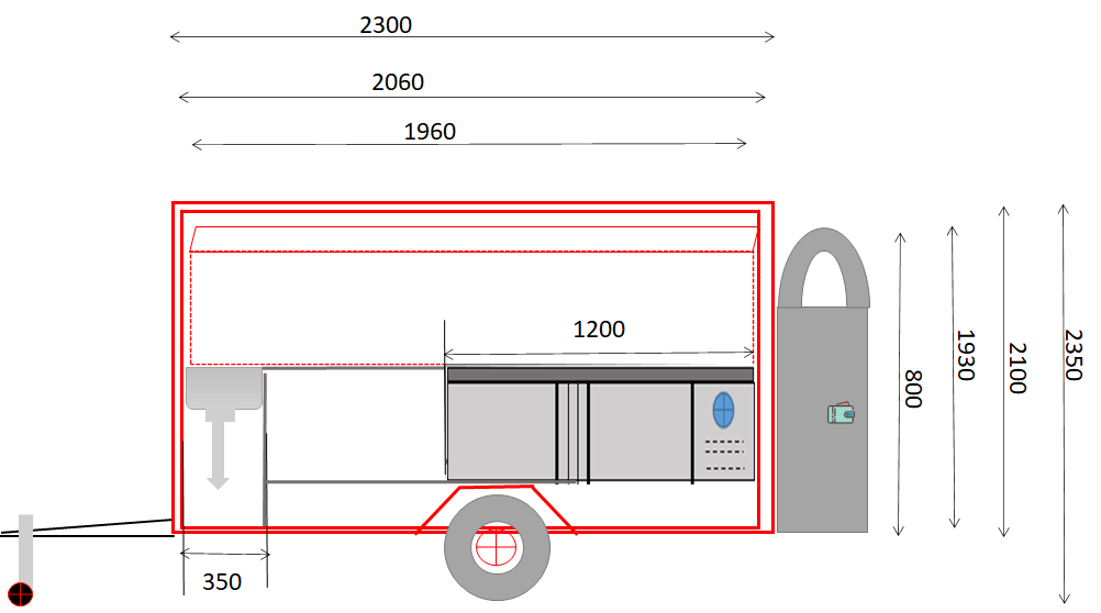 custom any size small food trailer dimensions