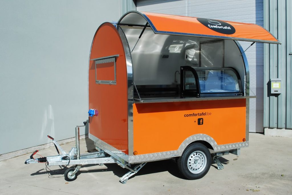 roundtop pro small food trailer - reinforced steel frame