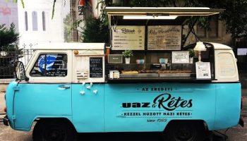 UAZ blue-white food truck russia food truck bukhanka