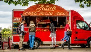 modern practical pizza food truck