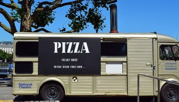 Pizza food truck national theater