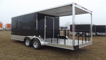 7 x 20 porch concession trailer