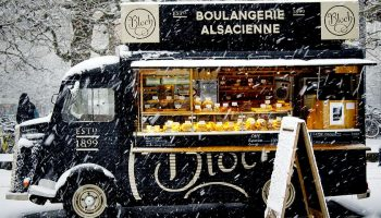 Can it get more French than selling french pastries and baguette from a Citroen Type H van remodeled to a bakery truck?