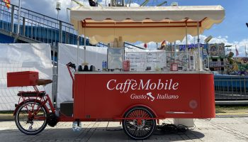 mobile coffee bike cafe