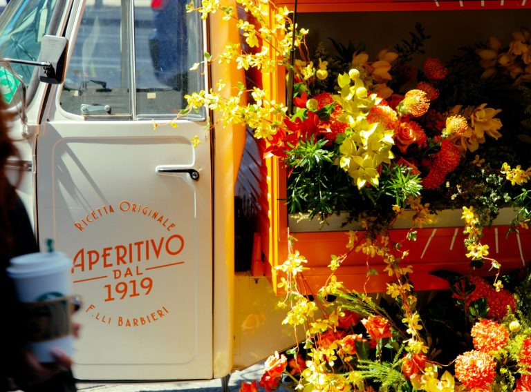 Piaggio Ape 400 converted to flower truck