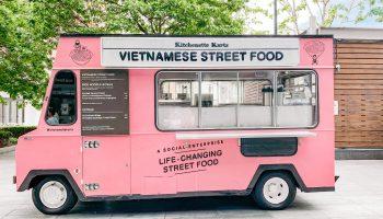 vietnamese street food pink step van