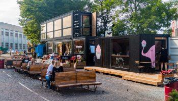 Shipping Container Restaurant Talinn Estonia